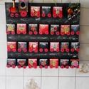 Adventi vonat  ELADVA !, Naptár, képeslap, album, Otthon, lakberendezés, Naptár, Falikép, Papírművészet, 30x34cm-es kartonra erős,jó tartású kis vagonokat ragasztottam,méretük 4x4cm.  Karácsonyi dekoráció..., Meska