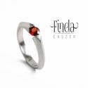 Bridge - Nemesacél gyűrű valódi vörös gránáttal, Ékszer, óra, Esküvő, Gyűrű, Esküvői ékszer, Ötvös, Fémmegmunkálás, Bridge   Nemesacél gyűrű valódi vörös gránáttal  A gyűrű különlegessége, hogy a nemesacél nem folyt..., Meska