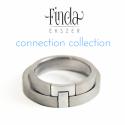Connection karikagyűrű, Esküvő, Ékszer, óra, Gyűrű, Connection karikagyűrűk második darabja. A kollekció olyan gyűrűkből áll, ami a férfi és a nő összet..., Meska