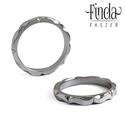 Mandala karikagyűrű, Esküvő, Esküvői ékszer, Fényes felületű, kézzel készült nemesacél karikagyűrű. Minden oldaláról különleges látványt nyújt. O..., Meska