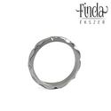 Mandala gyűrű, Ékszer, Gyűrű, Fényes felületű, kézzel készült nemesacél gyűrű. Minden oldaláról különleges látványt nyújt. Oldalró..., Meska