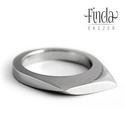 Wave - nemesacél női gyűrű , Ékszer, óra, Gyűrű, Finoman ívelt nőies kézzel kovácsolt nemesacél gyűrű fényesre polírozott vagy matt felülettel.  Szél..., Meska