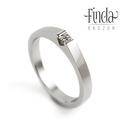 Zafira nemesacél gyűrű gyémántal, Ékszer, Gyűrű, Modern, letisztult formavilágú nemesacél gyémánt gyűrű. A gyémánt a legkeményebb ásvány a Földön. A ..., Meska