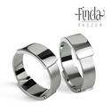 City nemesacél karikagyűrűpár, Esküvő, Ékszer, Gyűrű, Letisztult formavilágú, modern, formabontó karikagyűrű nemesacélból. A karikagyűrűk lényege, hogy ki..., Meska