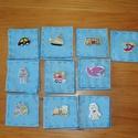 Memória játék készségfejlesztő, Játék, Készségfejlesztő játék, Varrás, Filcből és fa gombokból  készült 5*5 cm-es kézzel készített kártyák (pár mm-es eltérés adódhat). A ..., Meska