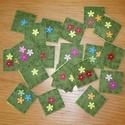 Memória játék , Játék, Készségfejlesztő játék, Varrás, Filcből és fa gombokból  készült 4,5*4,5 cm-es kézzel készített kártyák (pár mm-es eltérés adódhat)..., Meska