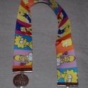 Simpson könyvjelző, Baba-mama-gyerek, Naptár, képeslap, album, Otthon, lakberendezés, Könyvjelző, Mintás grosgrain szalagból készült (22mm-25mm széles), egyedi könyvjelző, végén apró díss..., Meska