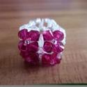 Swarovski gyűrű - fukszia, Ékszer, Gyűrű, Üdvözökkel az oldalamon!  Eladó termékem: Vidám szolíd gyűrű némi csillogással, swarovski..., Meska