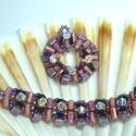 Lila és púder szett, Ékszer, óra, Ékszerszett, Üdvözökkel az oldalamon!  Eladó termékem: Csodálatos csillogású minőségi Swarovski Elements kristály..., Meska
