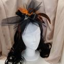 Flapper Bees fekete-réz tollas fejdísz, Esküvő, Ruha, divat, cipő, Hajdísz, ruhadísz, Hajbavaló, Varrás, Mindenmás, Tüll díszítésű, tollas fejdísz, amit egy kis masni tesz bájossá.  A hajpánt díszítése egyedi tervez..., Meska