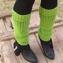 Tavaszi Rét - Horgolt lábszárvédő, Ruha, divat, cipő, Ősz van ugyan, de a vidám, tavaszi zöld színéről kapta a nevét ez a 33 cm hosszú, 29-32 bőségű lábme..., Meska