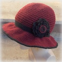 Bíborka - Horgolt kalap, Gyapjú-akril keverék fonalból horgoltam ezt a b...