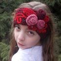 Hanna - Horgolt hajpánt, Ruha, divat, cipő, Hajbavaló, Hajpánt, Tavaszi hajpántot horgoltam nyári színekkel.  Szélessége 7.5 cm, bősége 56-58 cm.  Felnőttnek is jó...., Meska