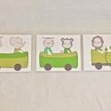 Egyedi, kézzel festett  gyerekszoba dekoráció, falikép, Gyerek & játék, Gyerekszoba, Baba falikép, Festett tárgyak, Egyedi, kézzel festett falikép.  3 db-os falikép az én általam megálmodott karakterekkel. Kérésre b..., Meska