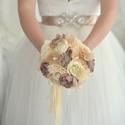 Beige menyasszonyi örökcsokor, Esküvő, Esküvői csokor, Mindenmás, Varrás, Ha szeretnéd emlékbe eltenni a menyasszonyi csokrod válassz örökcsokrot. :)   Natur, beige árnyalat..., Meska