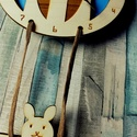 Gyerekszoba falióra - kék, Baba-mama-gyerek, Dekoráció, Baba-mama kellék, Gyerekszoba, Feldobnád valamivel a gyerekszobát? Kisebb és nagyobb gyerekek szobájában is aranyosan mutat egy vid..., Meska