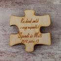 Esküvői köszönőajándék puzzledarab hűtőmágnes, Szép gesztus és nagyszerű meglepetés, ha az es...