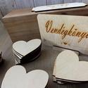 Esküvői vendégkönyv - szívek dobozban