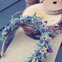 """""""A természet királynője"""" Hajráf fotózáshoz, esküvőre..., Esküvő, Ruha, divat, cipő, Hajdísz, ruhadísz, Hajbavaló, Egyedi, varázslatos a szárazvirágoknak köszönhetően természes hatású hajráf, sok-sok óra lelkes kész..., Meska"""