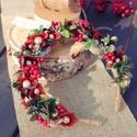 """""""A piros az igazi"""" hajráf fotózásra, Ruha, divat, cipő, Dekoráció, Hajbavaló, Hajpánt, Ez a színkombináció igazi karácsonyi hangulatot áraszt, ajánlom karácsonyi fotózáshoz. Elkészítéséhe..., Meska"""