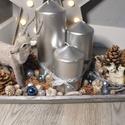 Szarvasos asztaldísz, Dekoráció, Karácsonyi, adventi apróságok, Otthon, lakberendezés, Ünnepi dekoráció, Karácsonyi dekoráció, Mindenmás, A szürke is lehet varázslatos ha neked is az egyik kedvenc színed akkor ez a dekoráció garantáltan ..., Meska