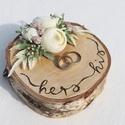 """""""Simplicity"""" gyűrűtartó esküvőre, fotózásra , Kb 15cm széles gyönyörű kérges nyírfa szelet..."""