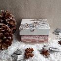 Cinkék, Dekoráció, Ünnepi dekoráció, Karácsonyi, adventi apróságok, Karácsonyi dekoráció, A termék alapanyaga préselt karton.A decoupage technika anyaga szalvéta.A termék méretei:9,5 x ..., Meska