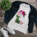Női póló, női felső, Ruha & Divat, Női ruha, Póló, felső, Fotó, grafika, rajz, illusztráció, Viseld a kedvenc Virág Lady-t magadon! A Flowerfaces kizárólag 100%-os, puha anyagú pamut pólókat h..., Meska