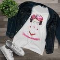 Női póló, női felső (Belső Csend), Ruha & Divat, Női ruha, Póló, felső, Fotó, grafika, rajz, illusztráció, Viseld a kedvenc Virág Lady-t magadon! A Flowerfaces kizárólag 100%-os, puha anyagú pamut pólókat h..., Meska