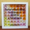 Flower Frame virágkeret, Dekoráció, Esküvő, Nászajándék, Kép, Papírművészet, Gravírozás, pirográfia, A termék teljes mértékben személyre szabható: Te választhatod ki a virágok színeit (lásd a képek kö..., Meska