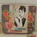 Audrey - neszesszer, Szépségápolás, Ruha, divat, cipő, Táska, Neszesszer, Minőségi pamutvászonból készült különleges neszesszer a kozmetikumok, tollak, titkok tárolására. Bél..., Meska
