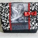 Marilyn - neszesszer, Szépségápolás, Ruha, divat, cipő, Táska, Neszesszer, Minőségi pamutvászonból készült neszesszer a kozmetikumok, tollak, titkok tárolására. Bélelt, mereví..., Meska