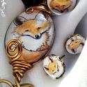 Kedves rókás szett, Ékszer, óra, Ékszerszett, Ékszerkészítés, Bájos ékszerszett a rókák kedvelőinek, bármilyen alkalomra. A szett tartalma: medál, gyűrű, fülbeva..., Meska
