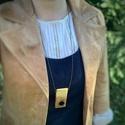 Borovi fenyő nyaklánc, Illatos borovi fenyőből készítettem ezt a nyak...