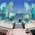karibi pillangós szélcsengő #windchime, A türkizkék tengerek álmodhatták volna meg mag...