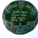 zöld palmettás házi áldás (Foenx) - Meska.hu