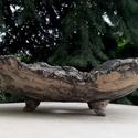 Bonsai tál, mázatlan kurama, Otthon, lakberendezés, Kaspó, virágtartó, váza, korsó, cserép, Kurama stílusú bonsai tál.  Mázatlan, fagytűrő agyagból készült. Nedvesen sötétebb tónusúvá válik.  ..., Meska