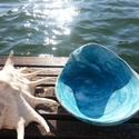 Tengerkék hullámtál, Otthon, lakberendezés, Hangulatos, a tengert idéző, hullám alakú, egyedi tál. A tengerkék kollekció darabja.  Lehet potpour..., Meska