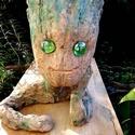#Baby #Groot kerámia figura, virágcserép, Dekoráció, Otthon, lakberendezés, Kaspó, virágtartó, váza, korsó, cserép, Kerti dísz, Mázatlan, festett terracotta figura, a Galaxis Őrzői közül a legcukibb! Az elsőt egy barátnőm kérésé..., Meska