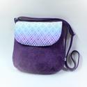 Padlizsán puhaság-női táska, Három anyag találkozik a táskában. A puha padl...