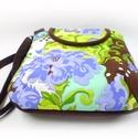 Barna kék hullám-női táska, Régóta a polcon bujkált már ez a gyönyörű t...