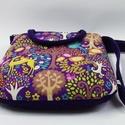 Táska a lila erdőből, Lila táska kordbársonyból és amerikai design t...