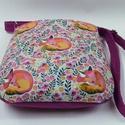 Magenta rókás táska, Válltáska design textilből. A táska anyagát m...