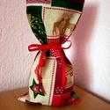 Beigli...Karácsonyi ajándék csomagolózsák , Baba-mama-gyerek, Dekoráció, Karácsonyi, adventi apróságok, Ajándékzsák, Varrás,   Ugye, környezettudatosan gondolkodsz?...és egész évben a karácsonyt várod?...  Bútorvászonból var..., Meska