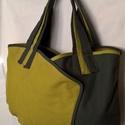 """""""Zöldek"""" táska, Táska, Szatyor, Erős vászonanyagból készítettem ezt a táskát. Mind a két oldalát átfedéssel csináltam. Az egyikhez v..., Meska"""