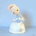 Marie Antoinette rokokó királylány, horgolt játék vagy polcdísz, Játék, Dekoráció, Baba, babaház, Dísz, Marie Antoinette francia királylány, horgolva. Egyedi tervezésű és teljes egészében kézzel készült, ..., Meska