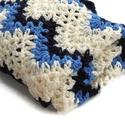 Tengerész kék babatakaró, horgolt
