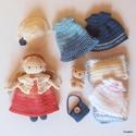 Kornélia baba ruhatárral, kézzel készített öltöztethető baba díszdobozban., Játék, Baba, babaház, Kornélia baba horgolt, bájos, egyedi baba. Pamut keverék fonalból saját minta alapján horgoltam, kéz..., Meska
