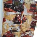 Kamion mintájú ovis zsák, Baba-mama-gyerek, Varrás, 100% pamut anyagból készült a zsák. Elől két zseb található rajta. A nyílás az elején nem húzózáras..., Meska