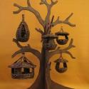 madáretető, Állatfelszerelések, Dekoráció, Otthon, lakberendezés, Fonás (csuhé, gyékény, stb.), Ezek a madáretetők zöld vessző felhasználásával készültek 3 méretben és formában.(A fa csak dekorác..., Meska